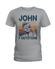 Vintage Drinking Beer John F Keystone Shirt Ladies T-Shirt thumbnail