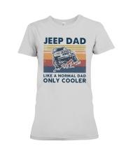 Vintage Jeep Dad Like A Normal Dad Cooler Shirt Premium Fit Ladies Tee thumbnail