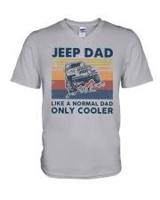 Vintage Jeep Dad Like A Normal Dad Cooler Shirt V-Neck T-Shirt thumbnail