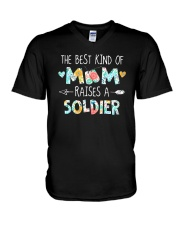 The Best Kind Of Mom Raises A Soldier Shirt V-Neck T-Shirt thumbnail