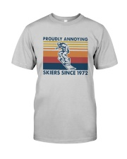 Vintage Proudly Annoying Skiers Since 1972 Shirt Classic T-Shirt tile