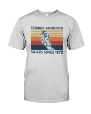 Vintage Proudly Annoying Skiers Since 1972 Shirt Premium Fit Mens Tee thumbnail