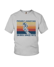 Vintage Proudly Annoying Skiers Since 1972 Shirt Youth T-Shirt thumbnail