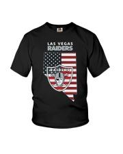 American Flag Las Vegas Raiders Shirt Youth T-Shirt thumbnail