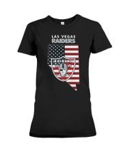 American Flag Las Vegas Raiders Shirt Premium Fit Ladies Tee thumbnail