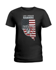 American Flag Las Vegas Raiders Shirt Ladies T-Shirt thumbnail