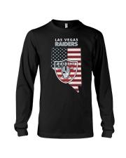 American Flag Las Vegas Raiders Shirt Long Sleeve Tee thumbnail