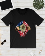 Inside Me Mexican And American Flag Shirt Classic T-Shirt lifestyle-mens-crewneck-front-17