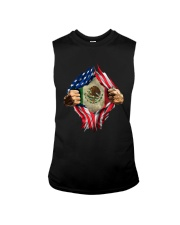 Inside Me Mexican And American Flag Shirt Sleeveless Tee thumbnail