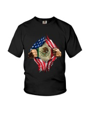 Inside Me Mexican And American Flag Shirt Youth T-Shirt thumbnail