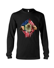 Inside Me Mexican And American Flag Shirt Long Sleeve Tee thumbnail