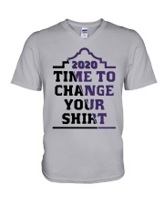 2020 Time To Change Your Shirt V-Neck T-Shirt tile