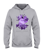 Rock N Roll Sign Language Purple Roses Shirt Hooded Sweatshirt thumbnail