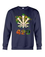 Cannabis Smoke 420 Shirt Crewneck Sweatshirt thumbnail