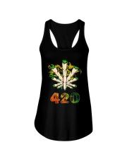 Cannabis Smoke 420 Shirt Ladies Flowy Tank thumbnail