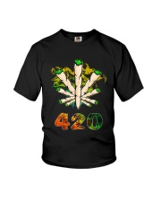 Cannabis Smoke 420 Shirt Youth T-Shirt thumbnail