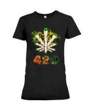 Cannabis Smoke 420 Shirt Premium Fit Ladies Tee thumbnail