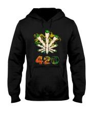 Cannabis Smoke 420 Shirt Hooded Sweatshirt thumbnail