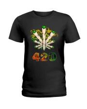 Cannabis Smoke 420 Shirt Ladies T-Shirt thumbnail