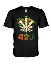 Cannabis Smoke 420 Shirt V-Neck T-Shirt thumbnail