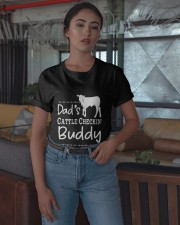 Cow Dad's Cattle Checkin' Buddy Shirt Classic T-Shirt apparel-classic-tshirt-lifestyle-05