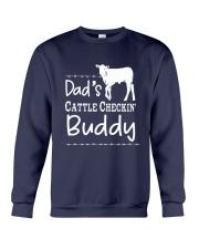 Cow Dad's Cattle Checkin' Buddy Shirt Crewneck Sweatshirt thumbnail