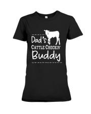 Cow Dad's Cattle Checkin' Buddy Shirt Premium Fit Ladies Tee thumbnail