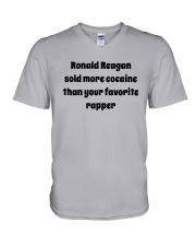 Ronald Reagan Sold Cocaine Favorite Rapper Shirt V-Neck T-Shirt thumbnail