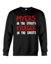 Myers In The Streets Krueger In The Sheets Shirt Crewneck Sweatshirt thumbnail