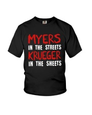 Myers In The Streets Krueger In The Sheets Shirt Youth T-Shirt thumbnail