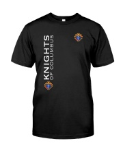 Skull Knights Of Columbus Shirt Classic T-Shirt front
