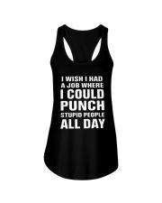I Wish I Had A Job Where I Could Punch Shirt Ladies Flowy Tank thumbnail