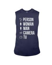 Person Woman Man Camera Tv Shirt Sleeveless Tee thumbnail
