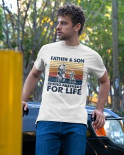Vintage Father And Son Riding Partners Life Shirt Classic T-Shirt apparel-classic-tshirt-lifestyle-front-44