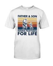 Vintage Father And Son Riding Partners Life Shirt Classic T-Shirt front