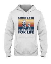 Vintage Father And Son Riding Partners Life Shirt Hooded Sweatshirt thumbnail