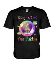 Yoga Girl Stay Out Of My Bubble Shirt V-Neck T-Shirt thumbnail