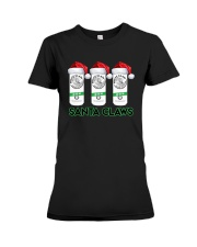Christmas White Claw Santa Claws Shirt Premium Fit Ladies Tee thumbnail