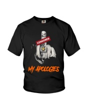 Middle Finger Censored My Apologies Shirt Youth T-Shirt thumbnail