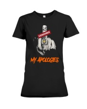 Middle Finger Censored My Apologies Shirt Premium Fit Ladies Tee thumbnail