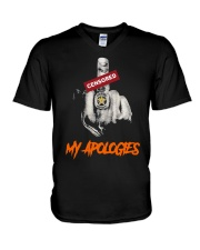 Middle Finger Censored My Apologies Shirt V-Neck T-Shirt thumbnail
