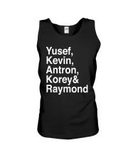 Raymond Santana Central Park 5 Shirt Unisex Tank thumbnail