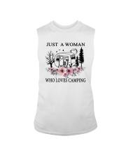 Flower Just A Woman Who Loves Camping Shirt Sleeveless Tee thumbnail