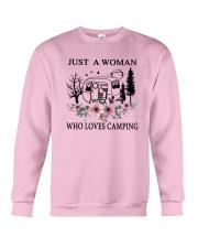 Flower Just A Woman Who Loves Camping Shirt Crewneck Sweatshirt thumbnail