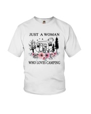 Flower Just A Woman Who Loves Camping Shirt Youth T-Shirt thumbnail