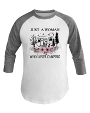 Flower Just A Woman Who Loves Camping Shirt Baseball Tee thumbnail