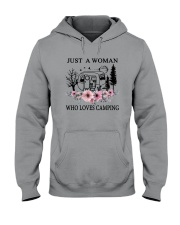 Flower Just A Woman Who Loves Camping Shirt Hooded Sweatshirt thumbnail