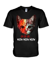 Jason Voorhees Ch Ch Ch Meow Meow Meow Shirt V-Neck T-Shirt thumbnail