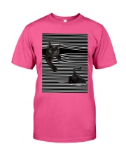 Cats Loves In Striped Shirt Classic T-Shirt thumbnail