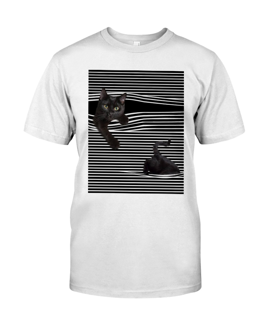 Cats Loves In Striped Shirt Classic T-Shirt